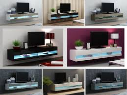 tv stand cabinet with led lights high gloss entertainment