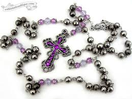 catholic rosary necklace purple rosary necklace rosary necklace catholic