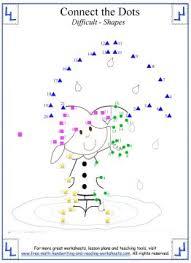 dot to dot worksheets learning shapes u0026 colors
