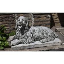 cocker spaniel garden statue wayfair