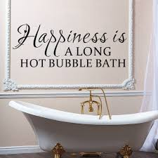 compare prices on black quotes online shopping buy low price happiness is along hot bubble bath quotes black wall stickers for bathroom home decor removable decals