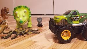 rc monster truck videos dino hunter monster truck rc by dickie toys with screaming