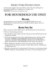 Oster Buffet Warmer by Oster Ckstbstw00 User Manual