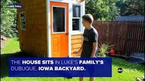 13 year old builds 1 500 tiny house in family u0027s backyard youtube