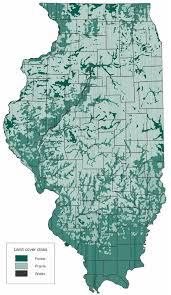 Illinois forestry association map 1820