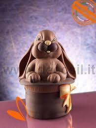 magic bunny egg shell lineaguscio mold chocolate easter egg 3d