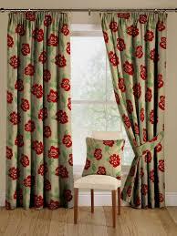 appealing modern flower pattern curtain design feature brown