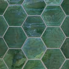 honeycomb tile or hexagon tile made by mercury mosaics american