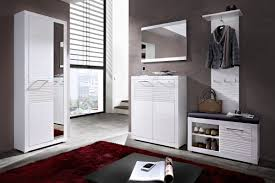 Contemporary Hallway Furniture by High Gloss White Design Entrance Hall Furniture Set Modern