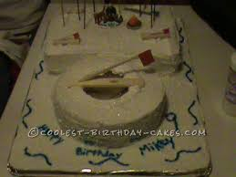 ice fishing cake ideas 28505 coolest ice fishing cake with