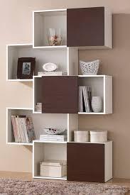 Modern Bookcases With Doors Harriette White Brown Door Bookshelf On Hautelook 249