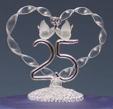 25 cake topper wedding in los angeles 25th anniversary wedding cake topper the