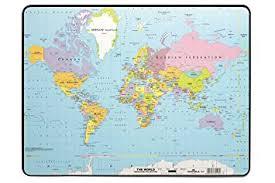 world map desk mat giant mouse pad durable 7211 19 world map desk mat pvc non slip base w530 x d400