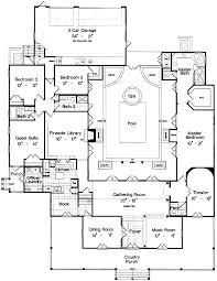 plan 6438hd center courtyard and home theater bonus rooms