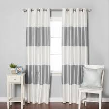 And White Curtains Curtain Gorgeous Blackout Curtains Nursery Simple Pattern 1