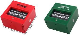 break glass door release fire alarm glass break button break glass fire alarm manual call