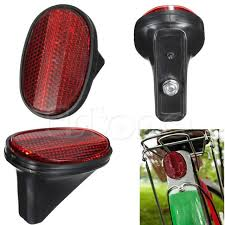bicycle rear fender light red bicycle bike rear fender safety warnning reflector tail mudguard