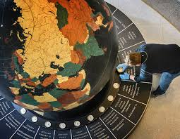 Put On The Map Immense Globe That Put Star Tribune Lobby On The Map Is Back