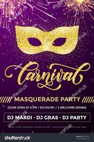 mardi gras masquerade mardi gras masquerade party poster carnival stock vector 533512843