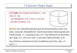 oberfläche zylinder kapitel 7 flächen und volumen ppt herunterladen