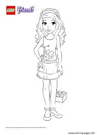 lego girl coloring page lego friends girl coloring pages printable