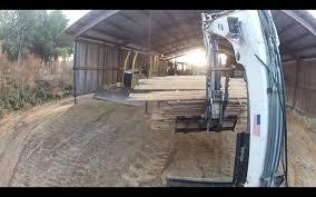 pallet forks on an excavator bobcat trackhoe youtube