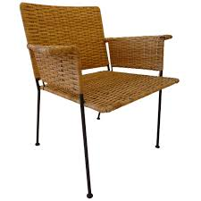 van keppel green chair in wrought iron and rattan for sale at 1stdibs