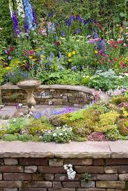 mixed garden bed and patio plant u0026 flower stock photography