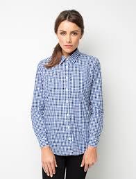 women u0027s frankie gingham check shirt blue