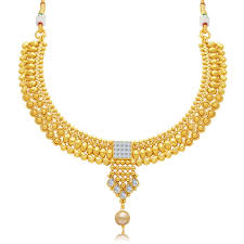 gold plated choker necklace images Sukkhi sublime gold plated choker necklace set for women at rs jpg