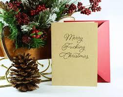 merry christmas yah filthy animal holiday card holiday