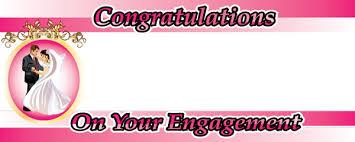 congratulations engagement banner engagement celebration personalised banner partyrama co uk