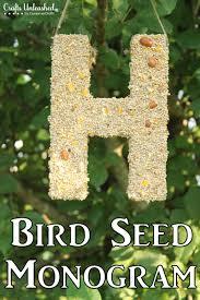 diy bird feeder monogram tutorial crafts unleashed