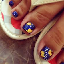 sunflower toe designs nails by the haute spot pinterest