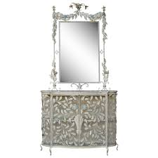 Ornate Mirrors Ornate French Floral Wrought Iron Mirror And Marble Top Console