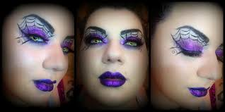 Purple Halloween Eye Makeup by Spider Web Dark Glam Makeup 30 Days Of Halloween Youtube