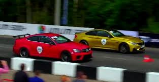 bmw vs audi race bmw m4 takes on the audi rs7 and mercedes c63 amg