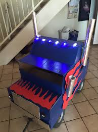 diy optimus prime truck from cardboard spray paint and dollar