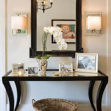 Decorating Entryway Tables Wonderful Black Foyer Table With Best Black Entryway Table Ideas