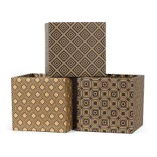 modern patterns decorative cardboard storage boxes sprout