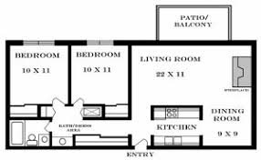 Two Bedroom Apartment Floor Plans Two Bedroom Apartment Plan Plain On Bedroom Regarding 2