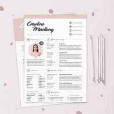 Cover Page Template Resume 3pk Resume Cv Template Cover Letter For By Theresumeboutique