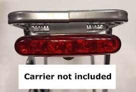 rear bike light rack mount raleigh rear bike cycle light 5 led carrier pannier rack mount or