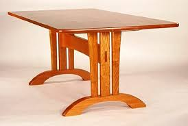 Interesting Trestle Table Design Woodworking Talk Woodworkers - Trestle table design