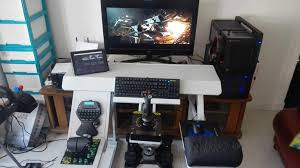 Ultimate Gaming Desk Furniture Ultimate Gaming Desk Stylish 18 My Setup Tour Of