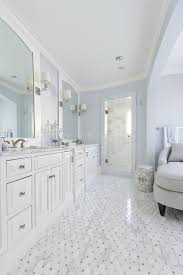 white and blue bathroom white and blue bathroom with gray chaise lounge transitional