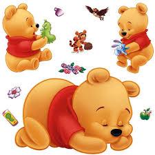 stickers nounours pour chambre bébé bébé winnie l ourson stickers muraux achat vente stickers