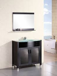 glass bathroom vanities in multiple styles