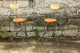 cafe bar stools buy handmade parisian cafe styled reclaimed wood and metal bar
