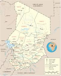 Map Of Southern Africa by Map Of Chad Travel Africa